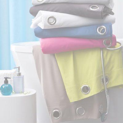 Cortinas para baño de tacto suave en liquidación