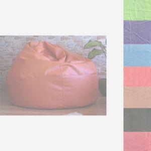 Puf de piel en colores